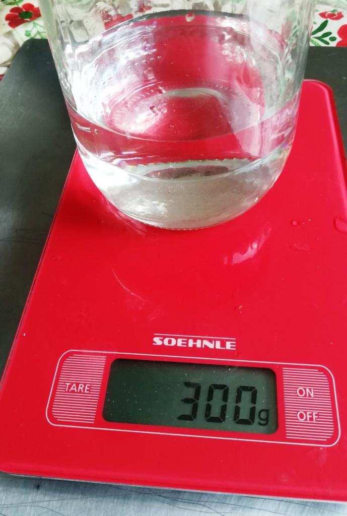 300gr d'eau.